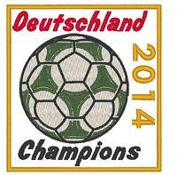 Deutschland 2014 Champions Iron On Patch World Cup Gold Merrow Border Germany