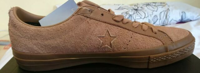 Converse One Star Ox Suede Brown UK 6 Ladies Trainers 155550C Rose Taupe