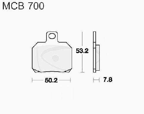 BREMSBELÄGE SCO TRW LUC hinten MCB700EC Piaggio X9 125 M2300001 Bj 2000-2003
