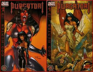 Lot-Of-2-PURGATORI-GOD-HUNTER-1-2-Complete-1-2-Chaos-Comics-Horror-2002
