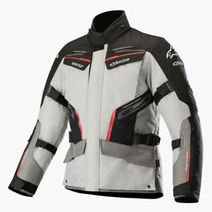 Alpinestars-Patron-Gore-Tex-Grey-Red-Black-Waterproof-Motorcycle-Jacket-New