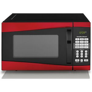 Image Is Loading Countertop Microwave Oven Digital Clock Red 0 9