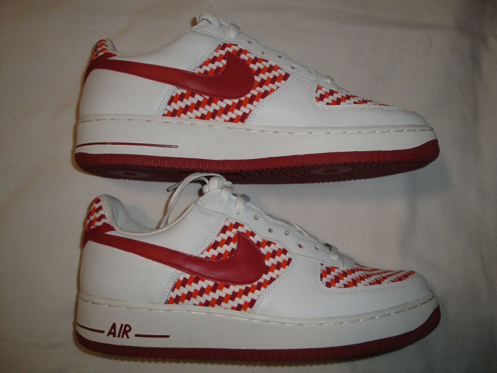 Nike Air Force estilo 1 Premium Basket Weave SZ 10,5 estilo Force casual salvaje 145b16