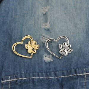 ca99a285e47 Collar Brooch Heart Paw Design Brooches Pins Jewelry For Women Lapel ...