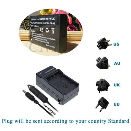 Paquete de batería Cargador Para Toshiba Camileo A35 X100 H30 H31 videocámara