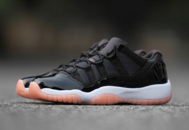 best cheap 60d37 728f0 Nike Air Jordan Retro XI 11 Low Bleached Coral Black White 580521-013 Men 9  Shoe