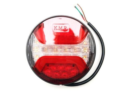 2x LED Rückleuchte Rund ⌀122 Bremslicht Positionslicht Blinker Anhänger LKW PKW