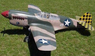 RC Model A Scale WWII P40E Kittyhawk 66
