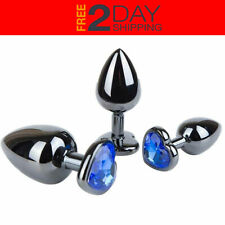 3 Pcs Size Butt Toy Plug Metal Luxury Jewelry Adult Game Trainer *2 DAY SHIPPING