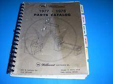 Williams 1977-1978 Parts Catalog Pinball Baseball Gun Bowling Shuffle142 pages