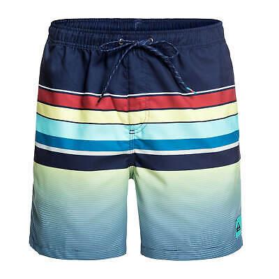 Quiksilver Setscoming 17 Inch Swim Short Blue/yellow Uomo Bagno Doposcuola-mostra Il Titolo Originale