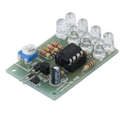 2Pcs 12V Breathe Light LED Flashing Lamp Parts Electronic Module LM358 Chip 8LED