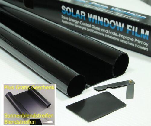 5/% Autofolie Tönungsfolie 75 x300 Sonnenschutzfolie dunklen schwarz Sonnenblende