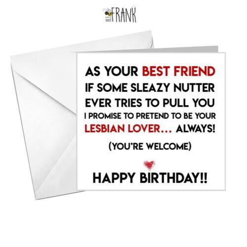 sarcastic Birthday Card alternative Lesbian Lover! rude Funny Best Friend