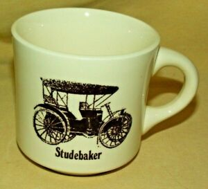 Studebaker Mug Coffee Tea Cup Brown Car Graphic Made Usa As Is Shaving Antique Ebay