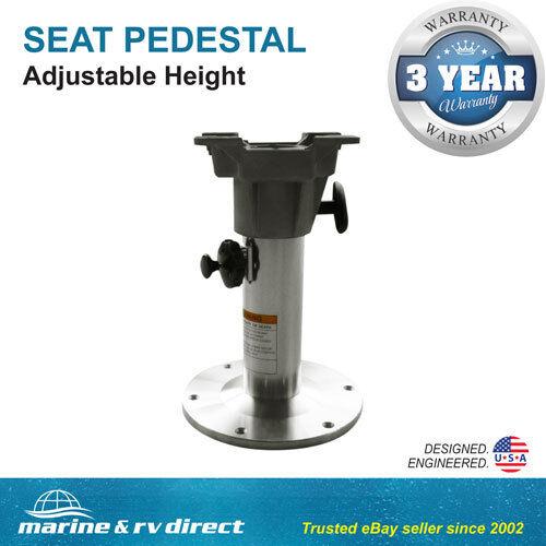 "Adjustable All Aluminum Marine Swival Boat Seat Pedestal 12/""-18/"" High"
