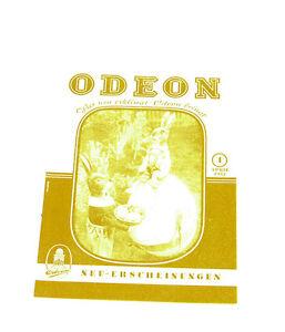 k145 Sonstige Antiquitäten & Kunst DemüTigen Odeon Neuerscheinungs Katalog April /4 1952