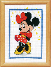 Counted Cross Stitch Kit Embroidery Christmas Disney Babies Minnie