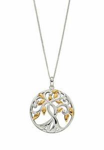 Elements-Silver-Necklace-Tree-Of-Life-Gold-Plated-925-Silver-P4832
