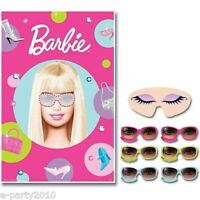 Barbie All Doll'd Up Party Game Poster Birthday Supplies Room Decorations Toy
