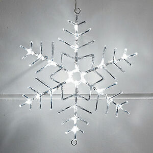 image is loading snowflake cool white led outdoor christmas rope light