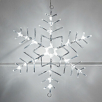 Snowflake Cool White LED Outdoor Christmas Rope Light Silhouette Decoration