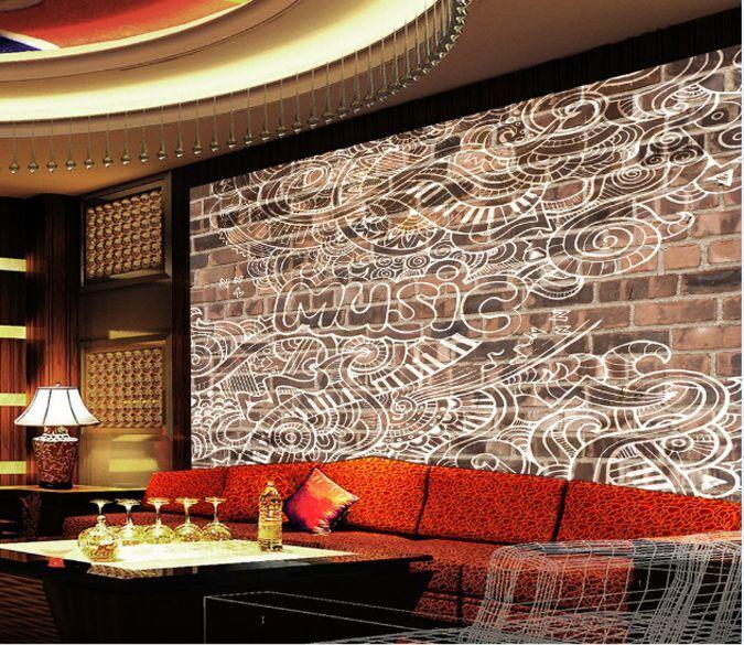 3D Graffit Fleur 12 Photo Papier Peint en Autocollant Murale Plafond Chambre Art