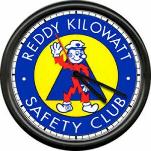 Reddy Kilowatt Appalachian Power West Virginia Electric Lineman Sign Wall Clock