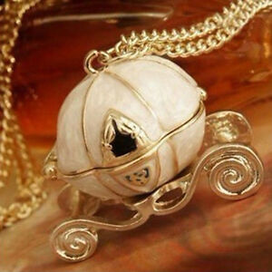Puo-aprire-la-collana-lunga-vintage-Magical-Cinderella-Pumpkin-Carriage