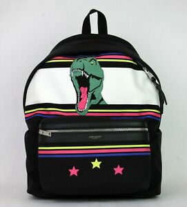 Details about  950 Yves Saint Laurent Unisex Black Dino Canvas Hunting  Backpack 435988 9081 da103117c49bd