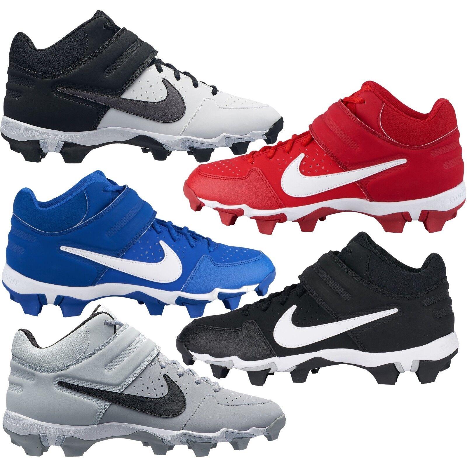 Nike Alpha Huarache Varsity Keystone Mid Molded Men's Baseball Cleats Comfy shoes