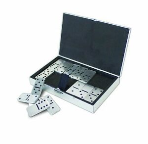 Aluminium Dominoes Set in Smart Looking Aluminium Case - <span itemprop='availableAtOrFrom'>Boston, United Kingdom</span> - Aluminium Dominoes Set in Smart Looking Aluminium Case - Boston, United Kingdom
