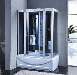 Cabina vasca idromassaggio 135x80 6 getti sauna bagno turco radio ...