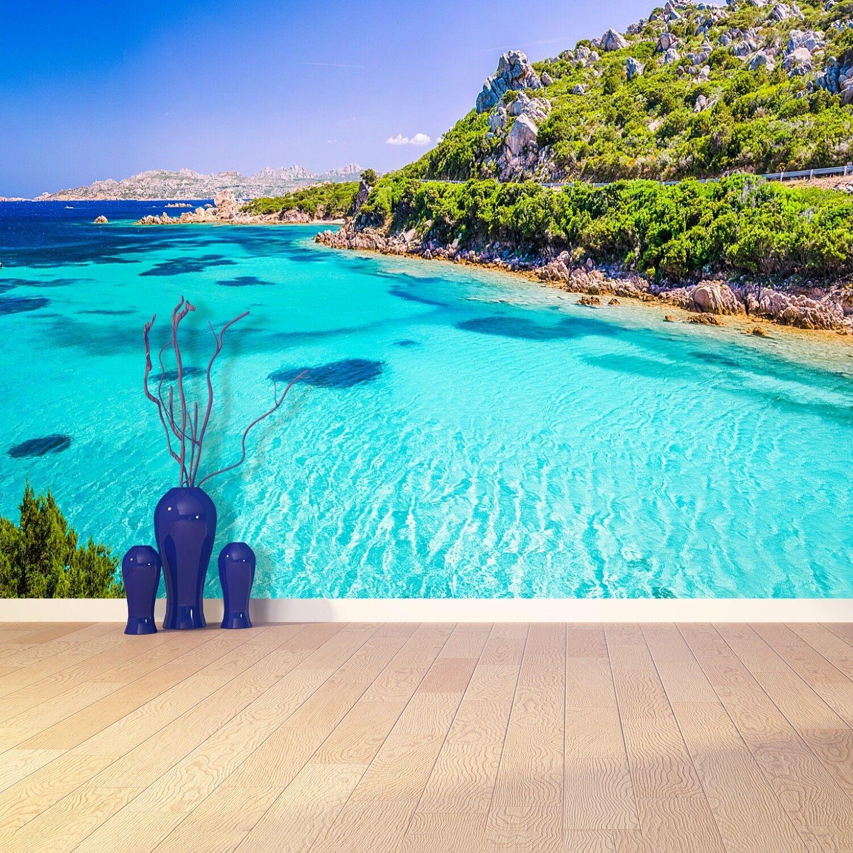Vlies-Fototapete Fototapeten Tapete aus Vlies Poster Foto Meer Sardinien