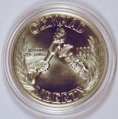 1988-D Olympics Commemorative BU Silver Dollar Coin /& Capsule US Mint S$1 Denver