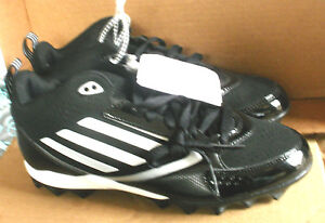 huge selection of 4f13c 7576c Image is loading ADIDAS-LIGHTNING-MD-Black-amp-White-FOOTBALL-CLEATS-