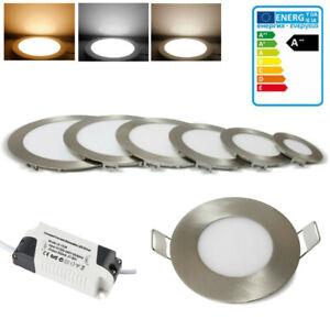 LED Panel Einbaustrahler 3-18W Deckenleuchte Einbau Lampe spot slim RGB Dimmbar