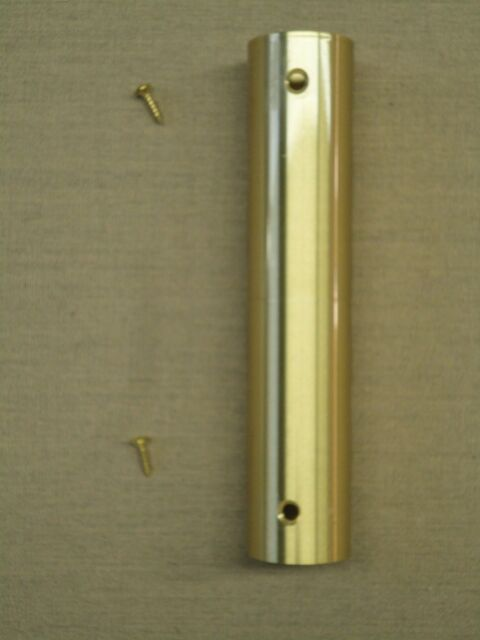"""Brass Screw Joint Indoor Oak Flagpole Replacement 1 3/8"""" O.D. and 1 7/32"""" I.D."""