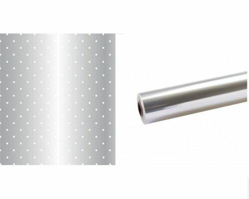 50 m x 80 cm-points blancs ou clairs OASIS Super Eco Biodégradable Cellophane Roll