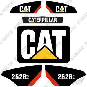 Caterpillar 252B2 Kit de Pegatinas Equipamiento Calcamonías Minicargadora