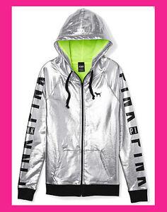 argent de mode à Green Défilé de Secret Neon capuche Bling veste Victoria's 2014 rose en XPkwn08O