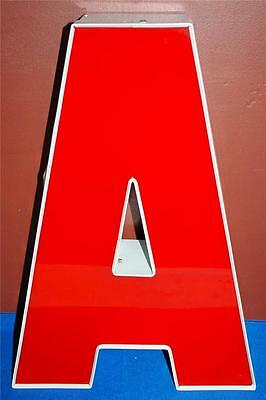 RED WHITE INDOOR OUTDOOR LARGE ACRYLIC ADVERTISING SIGN LETTER A