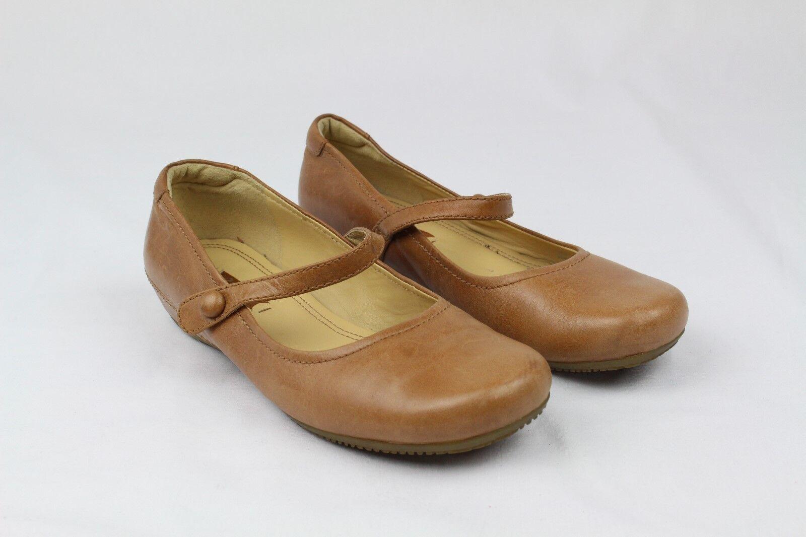 Ecco Para Mujer Mujer Mujer Zapatos sin Taco Mary Jane Marrón Cuero Tamaño 37EUR 6-6.5 US (OBO)  perfecto