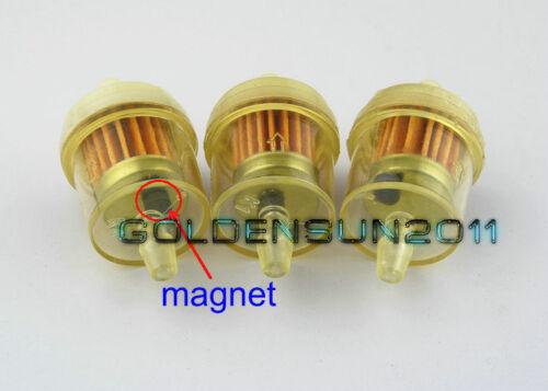 "3PCS YAMAHA Motorcycle Inline GAS Carburetor Fuel Filter 1//4/"" 6mm 7mm ENGINE Z4"