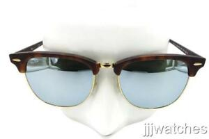 8d0cb08f545 Image is loading Ray-Ban-Clubmaster-Light-Green-Silver-Mirror-Sunglasses-