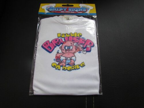 Cartel novedoso Mini Camiseta Coche poco Bruiser a bordo con ventosa