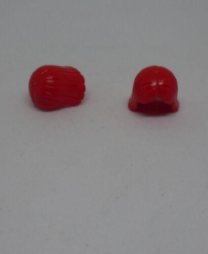 Lego 2 Haarteile rot Haare für Männer Frauen Figuren Zubehör Teile Ritter Neu