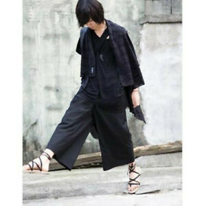 New Korean Fashion Men S Loose Fit Wide Pants Summer Avant Garde Casual Trousers Ebay