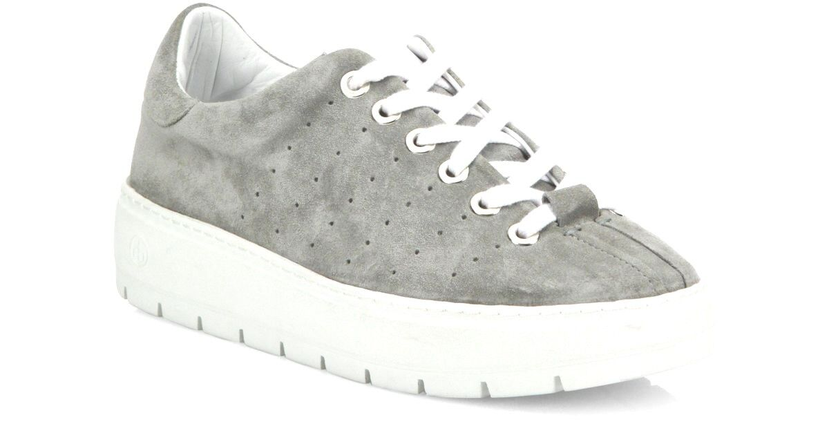 Rag & Bone Linden Cemento Perforated Suede Platform Sneakers sz.40 (9-9.5 US)New