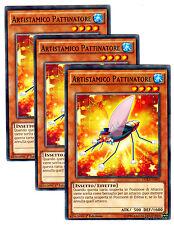 set 3X ARTISTAMICO PATTINATORE DUEA-IT005 Comune in Italiano YUGIOH